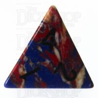 TDSO Turquoise Multi Fire Synthetic 16mm Stone D4 Dice