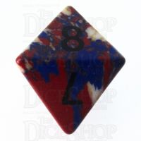 TDSO Turquoise Multi Fire Synthetic 16mm Stone D8 Dice