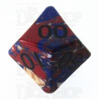 TDSO Turquoise Multi Fire Synthetic 16mm Stone Percentile Dice