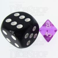 TDSO Bright Gem Amethyst MINI 10mm D8 Dice