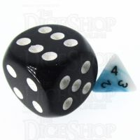 TDSO Duel Teal & White MINI 10mm D4 Dice