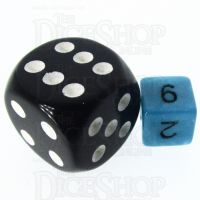 TDSO Duel Teal & White MINI 10mm D6 Dice