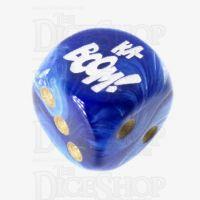 Chessex Vortex Blue KA-BOOM! Logo D6 Spot Dice