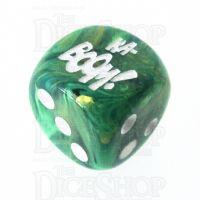 Chessex Lustrous Green KA-BOOM! Logo D6 Spot Dice