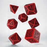 Q Workshop Cthulhu The Outer Gods Nyarlathotep Red & Black 7 Dice Polyset