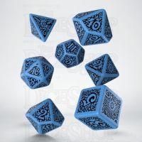 Q Workshop Cthulhu The Outer Gods Azathoth Blue & Black 7 Dice Polyset