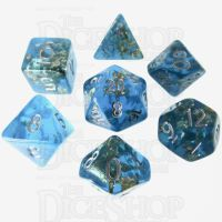 TDSO Confetti Teal & Gold 7 Dice Polyset