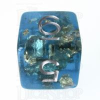 TDSO Confetti Teal & Gold D6 Dice