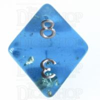 TDSO Confetti Teal & Gold D8 Dice