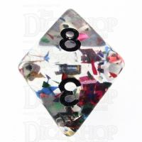TDSO Confetti Rainbow & Black D8 Dice