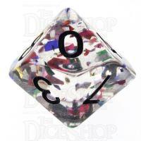 TDSO Confetti Rainbow & Black D10 Dice