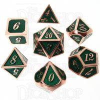 TDSO Metal Script Copper & Dark Green Shimmer 7 Dice Polyset