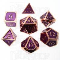 TDSO Metal Script Copper & Purple 7 Dice Polyset