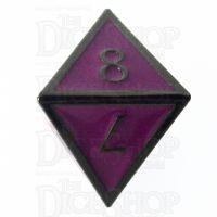 TDSO Metal Script Black Nickel & Purple D8 Dice