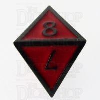 TDSO Metal Script Black Nickel & Red D8 Dice