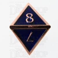 TDSO Metal Script Copper & Blue & D8 Dice