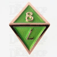 TDSO Metal Script Copper & Light Green D8 Dice