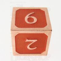 TDSO Metal Script Copper & Orange D6 Dice
