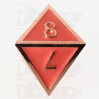 TDSO Metal Script Copper & Orange D8 Dice