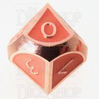 TDSO Metal Script Copper & Orange D10 Dice