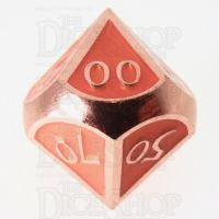 TDSO Metal Script Copper & Orange Percentile Dice