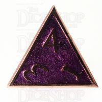 TDSO Metal Script Copper & Purple D4 Dice