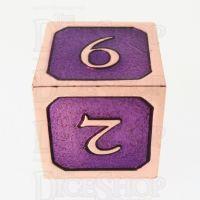 TDSO Metal Script Copper & Purple D6 Dice