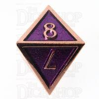 TDSO Metal Script Copper & Purple D8 Dice