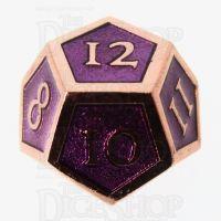 TDSO Metal Script Copper & Purple D12 Dice