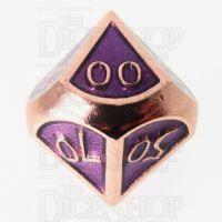 TDSO Metal Script Copper & Purple Percentile Dice