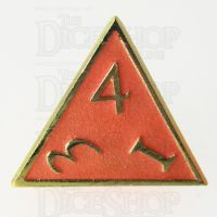 TDSO Metal Script Gold & Orange D4 Dice