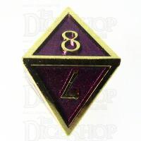 TDSO Metal Script Gold & Purple D8 Dice