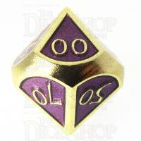 TDSO Metal Script Gold & Purple Percentile Dice