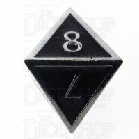 TDSO Metal Script Silver & Black D8 Dice