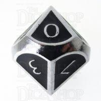 TDSO Metal Script Silver & Black D10 Dice
