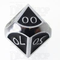 TDSO Metal Script Silver & Black Percentile Dice
