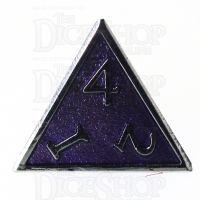 TDSO Metal Script Silver & Purple D4 Dice