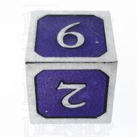 TDSO Metal Script Silver & Purple D6 Dice