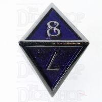 TDSO Metal Script Silver & Purple D8 Dice