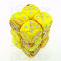 D&G Toxic Ooze Yellow & Red 12 x D6 Dice Set