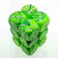 D&G Toxic Slime Green & Blue 12 x D6 Dice Set