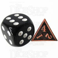 TDSO Metal Fire Forge Antique Copper MINI 12mm D4 Dice