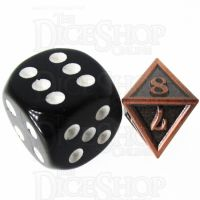 TDSO Metal Fire Forge Antique Copper MINI 12mm D8 Dice