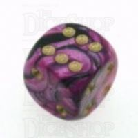 D&G Toxic Fallout Purple & Black 15mm D6 Spot Dice