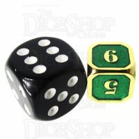 TDSO Metal Fire Forge Gold & Green MINI 12mm D6 Dice