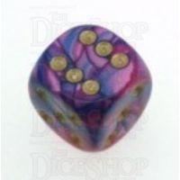 D&G Toxic Acid Purple & Blue 15mm D6 Spot Dice