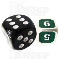 TDSO Metal Fire Forge Silver & Green MINI 12mm D6 Dice