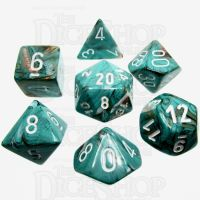 Chessex Marble Oxi-Copper 7 Dice Polyset