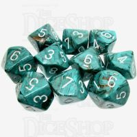 Chessex Marble Oxi-Copper 10 x D10 Dice Set