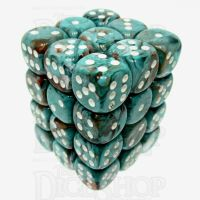 Chessex Marble Oxi-Copper 36 x D6 Dice Set